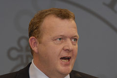 DENMARK PRIME MINISTER Royalty Free Stock Photo