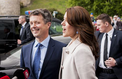Denmark Prince Frederik and Princess Mary. Szczecin, Poland - Mai 14, 2014: Denmark Prince Frederik and Princess Mary, visit in Poland. Both happy and smilling Royalty Free Stock Image