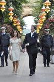 DENMARK PRINCESS MARIE AND PRINCE JAOCHIM. Danish royal in amusement Tivoli park in Copenhagen to a concert Stock Photo