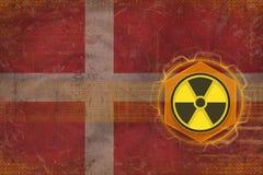 Denmark radioactive threat. Radiation hazard concept. Stock Photos