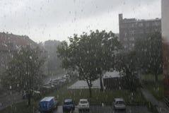 DENMARK_RAIN下落 图库摄影