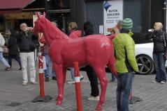 DENMARK_RED HORSES Royalty Free Stock Image