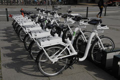 DENMARK_rental bikes Royalty Free Stock Images