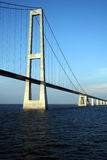 Denmark's Great Belt Suspension Bridge Royalty Free Stock Images