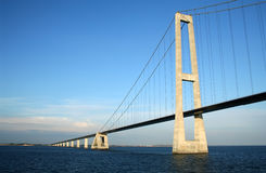 Denmark's Great Belt Suspension Bridge Royalty Free Stock Images