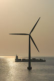 Denmark's Offshore Wind Generating Tubine Royalty Free Stock Photography