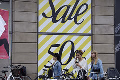 DENMARK_SALE AT MAGAZIN DU NORD Royalty Free Stock Images