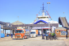 denmark Scarico del traghetto Fotografia Stock Libera da Diritti
