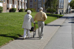 DENMARK_SENIOR COUPLE Royalty Free Stock Photo