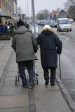 DENMARK_senior couple Royalty Free Stock Photos