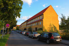 Denmark small town stock image