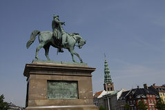 DENMARK_staue of king frederik Royalty Free Stock Images