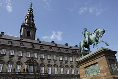DENMARK_staue of king frederik Stock Photography