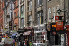 Denmark street in London Royalty Free Stock Photos