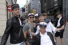 DENMARK_student hats Royalty Free Stock Photo