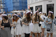 DENMARK_students celebra Immagini Stock