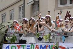 DENMARK_students celebra Fotografia Stock Libera da Diritti
