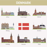 Denmark. Symbols of cities Stock Images