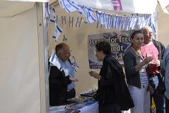 DENMARK_TASTE ΣΤΆΣΗ ΠΑΓΚΟΣΜΙΩΝ ΟΔΩΝ PARTY_ISRAELI Στοκ εικόνες με δικαίωμα ελεύθερης χρήσης