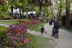 DENMARK_tivoli庭院 库存图片