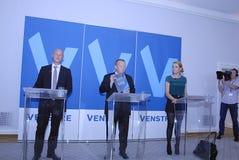 DENMARK_VENSTRE-LIBERAL党预算聚焦 库存照片