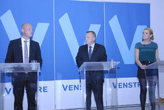 DENMARK_VENSTRE-LIBERAL党预算聚焦 免版税库存照片