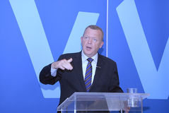 DENMARK_VENSTRE-LIBERAL党预算聚焦 图库摄影