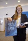 DENMARK_VENSTRE-LIBERAL przyjęcia budżeta główna atrakcja Obraz Stock