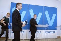 DENMARK_VENSTRE-LIBERAL przyjęcia budżeta główna atrakcja Fotografia Stock