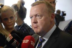 DENMARK_VENSTRE-LIBERAL przyjęcia budżeta główna atrakcja Obrazy Stock