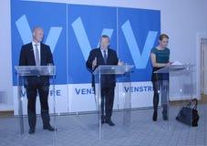 DENMARK_VENSTRE-LIBERAL przyjęcia budżeta główna atrakcja Zdjęcia Royalty Free