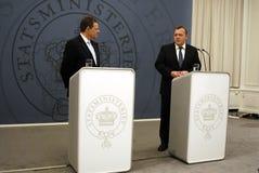 DENMARK_vice prime minister(L) prime minister (R) Stock Image