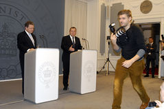 DENMARK_vice prime minister(L) prime minister (R) Stock Images