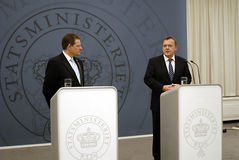 DENMARK_vice prime minister(L) prime minister (R) Stock Photography