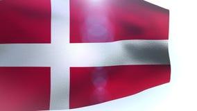 Denmark waving flag wind. Video stock video footage
