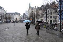 DENMARK_WET deszczowy dzień Obrazy Royalty Free