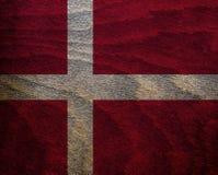 Denmark Wood Textured Flag Stock Image