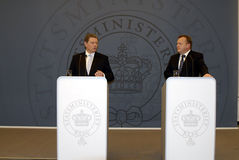 DENMARK_vice Prime Minister(L) Prime Minister (R) Royalty Free Stock Photo