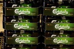 DENMARKS嘉士伯啤酒 免版税图库摄影