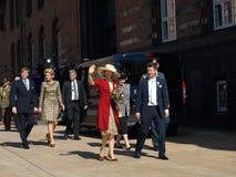 Denmarks de 70ste verjaardag van Koningin Margarethe stock afbeelding