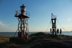 Denna †‹â€ ‹latarnia morska w zmierzchu Zdjęcie Stock