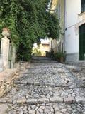 Denna är byn, den Biniaraix byn arkivbilder