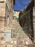 Denna är byn, den Biniaraix byn arkivbild