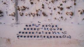 Denna är Cabanas i Algarve Arkivbilder