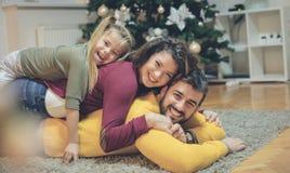 Denna är den bästa julen någonsin arkivbilder