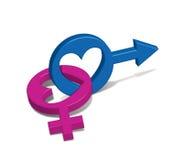 Male kvinnligt symbol Arkivfoton