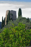 Denna är den så kallad gravvalvet för Cicero ` s i Formia Italien Fotografering för Bildbyråer