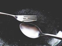 Denna är den tomma plattan, efter du avslutade sig har ätit Arkivbild