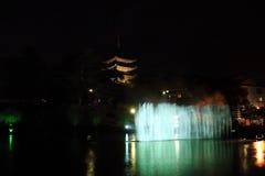 Denna är denstoried pagoden i den Kofuku-ji templet Arkivfoto