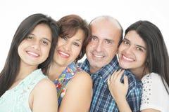 Denna är en lycklig familj Royaltyfri Bild